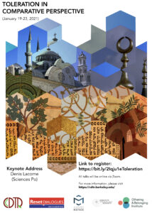 Toleration Conference Jan 19-23, 2021 Poster Image